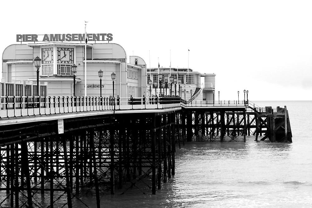 Worthing Pier B&W 2 by Greg Roberts