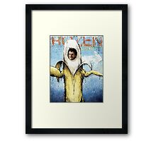 Frozen Banana Framed Print