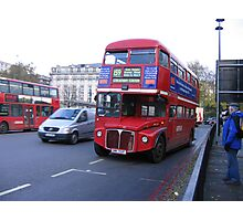 Routemaster bus Photographic Print