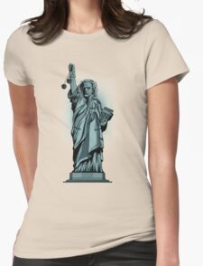 Statue of Time Womens Fitted T-Shirt