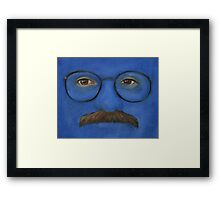 I'm Afraid I Just Blue Myself Framed Print