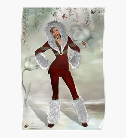 Snow Angel With An Attitude Poster