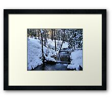 The Little Bear Creek = Alta, California Framed Print