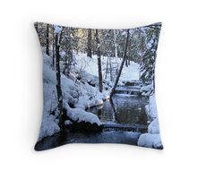 The Little Bear Creek = Alta, California Throw Pillow