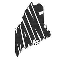 Maine State Word Art by surgedesigns