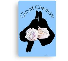 Goat Cheese (Blue) Canvas Print