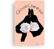 Goat Cheese (Peach) Canvas Print