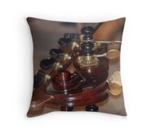 Tuning Knobs Throw Pillow