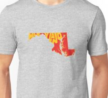 Maryland State Word Art Unisex T-Shirt