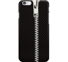Funny black texture Zipper iPhone Case/Skin