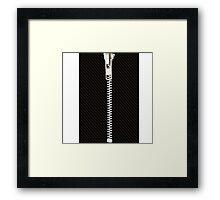 Funny black texture Zipper Framed Print