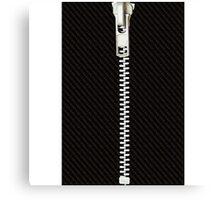 Funny black texture Zipper Canvas Print