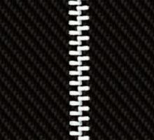Funny black texture Zipper Sticker