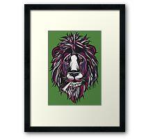 Smoke Lion Framed Print