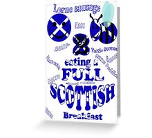 happy 2 bee eating a full Scottish Greeting Card