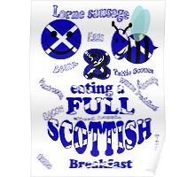 happy 2 bee eating a full Scottish Poster