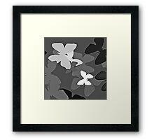 Black white flutterbies Framed Print