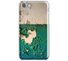 Wall with Peeling Green Blue and White Paint   iPhone Case/Skin