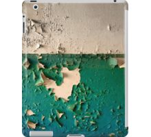 Wall with Peeling Green Blue and White Paint   iPad Case/Skin