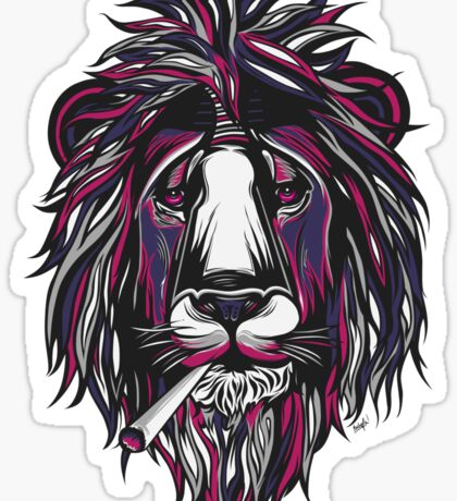 Smoke Lion Sticker