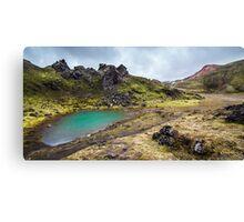 ICELAND:THE EMERALD LAKE Canvas Print