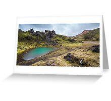 ICELAND:THE EMERALD LAKE Greeting Card