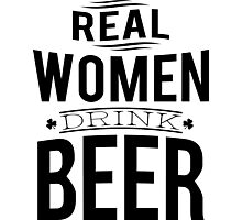 Real women drink beer Photographic Print