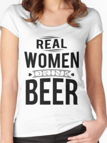 Real women drink beer Women's Fitted Scoop T-Shirt