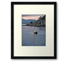Sunset at Oban Framed Print