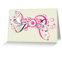 Pink ornament with floral Greeting Card