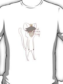 """sad trash king"" weird cats T-Shirt"