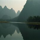 Li River, Guilin China by Bev Pascoe