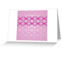 Pink ornament with floral 5 Greeting Card