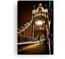 London Tower Bridge at Night Canvas Print