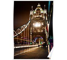 London Tower Bridge at Night Poster