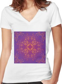 Purple Ornament 3 Women's Fitted V-Neck T-Shirt