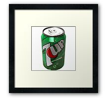 Green can Framed Print
