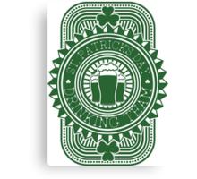 St. Patrick's day drinking team Canvas Print