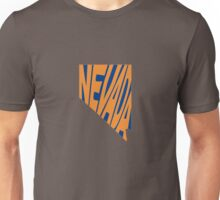 Nevada State Word Art Unisex T-Shirt