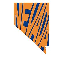 Nevada State Word Art by surgedesigns