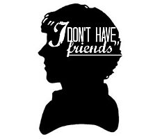 I don't have friends Photographic Print