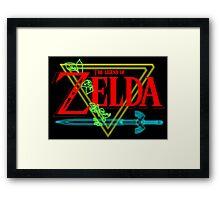 Legend Of Zelda neo Framed Print
