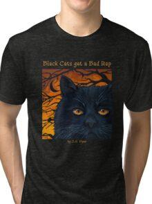 "Black Cats get a Bad Rap - ""The Wind Blows"" Tri-blend T-Shirt"