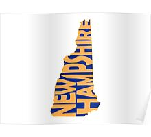 New Hampshire State Word Art Poster
