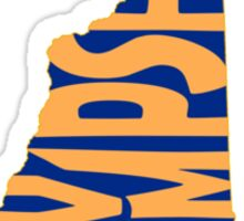New Hampshire State Word Art Sticker