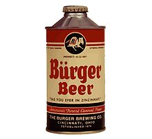 Vintage Burguer beer can. Photographic Print