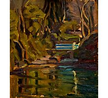 Original Contemporary Oil Painting Fishcombe Bay Photographic Print