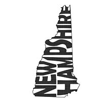 New Hampshire State Word Art by surgedesigns
