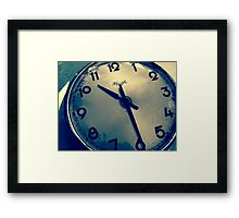 Time goes by .. so slowly Framed Print