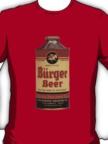 Vintage Burguer beer can. T-Shirt